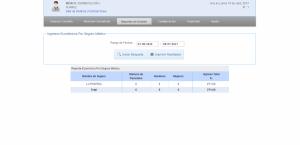 Reporte de ingresos por seguro medico